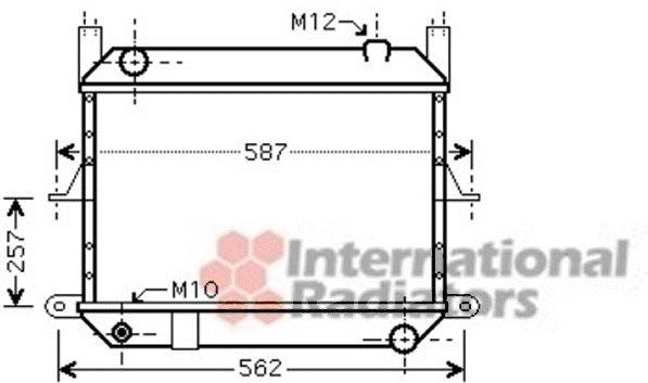 Radiateur, refroidissement du moteur - VAN WEZEL - 13002312