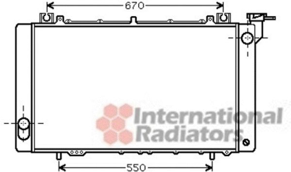 Radiateur, refroidissement du moteur - VWA - 88VWA13002316