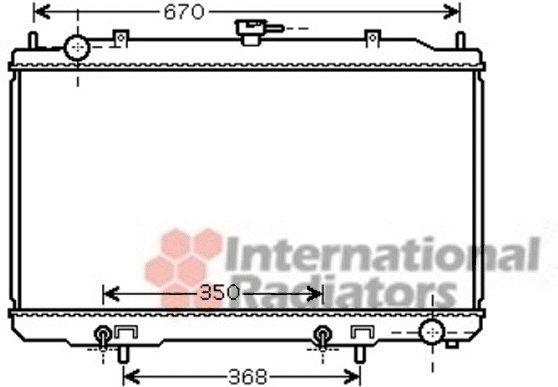 Radiateur, refroidissement du moteur - VAN WEZEL - 13002320
