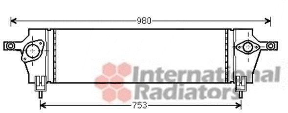 Intercooler, échangeur - VAN WEZEL - 13004333