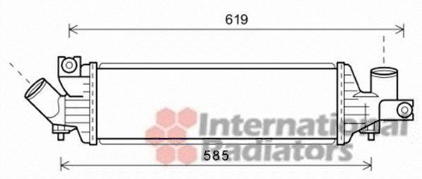 Intercooler, échangeur - VAN WEZEL - 13004337
