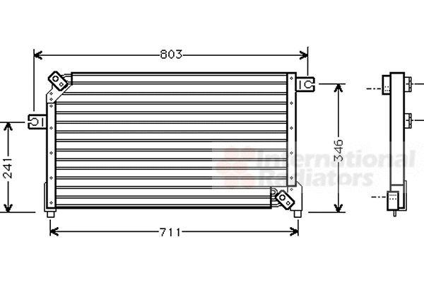 Condenseur, climatisation - VAN WEZEL - 13005158
