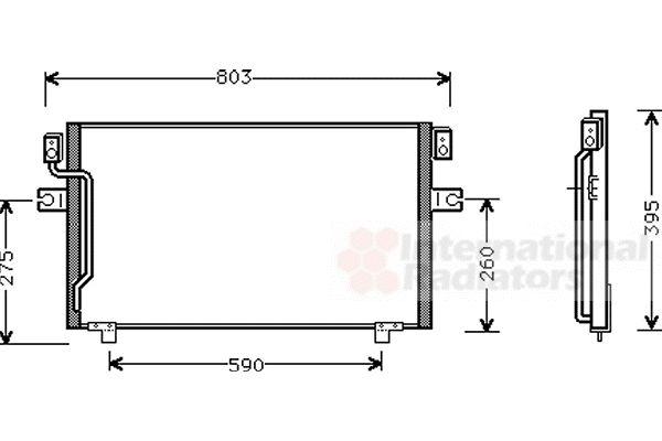 Condenseur, climatisation - VAN WEZEL - 13005160
