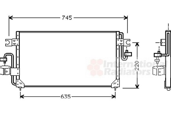 Condenseur, climatisation - VAN WEZEL - 13005163