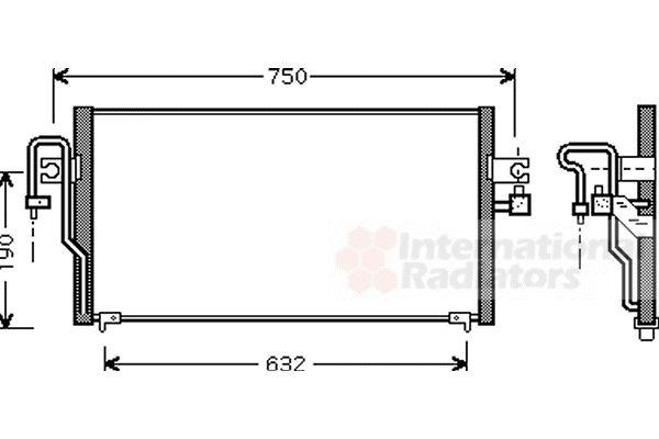 Condenseur, climatisation - VAN WEZEL - 13005164