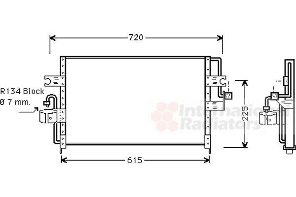 Condenseur, climatisation - VAN WEZEL - 13005166