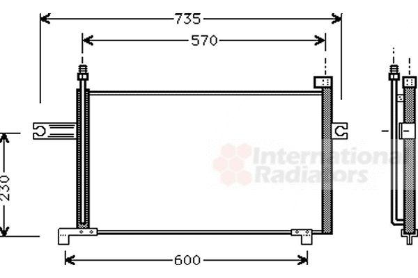 Condenseur, climatisation - VAN WEZEL - 13005175