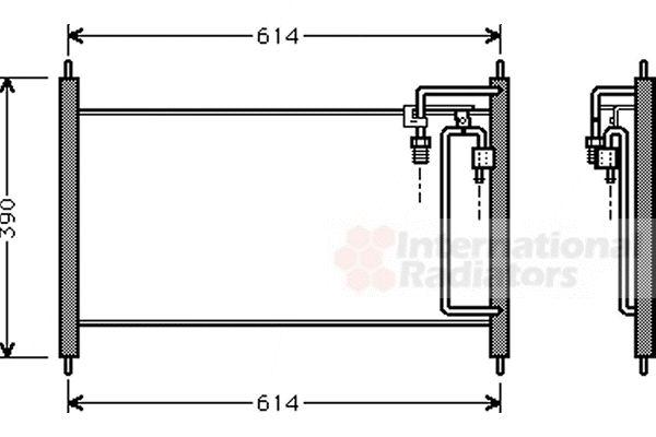 Condenseur, climatisation - VAN WEZEL - 13005177