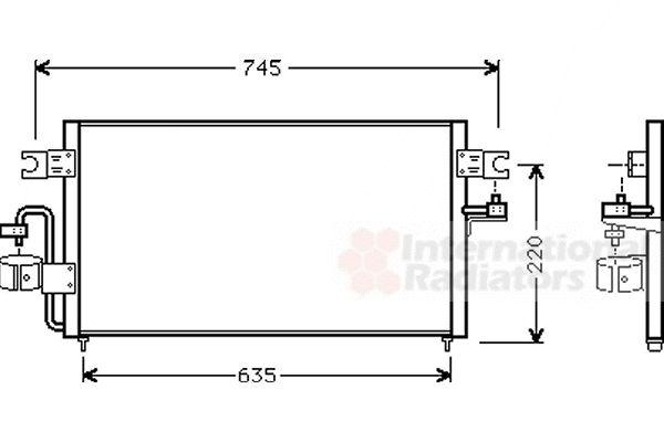 Condenseur, climatisation - VAN WEZEL - 13005178