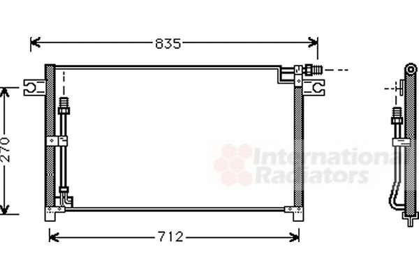 Condenseur, climatisation - VAN WEZEL - 13005185