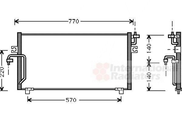 Condenseur, climatisation - VAN WEZEL - 13005193