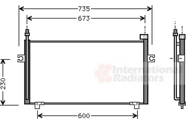 Condenseur, climatisation - VAN WEZEL - 13005197