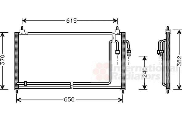 Condenseur, climatisation - VAN WEZEL - 13005200