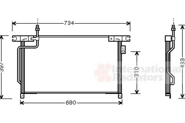 Condenseur, climatisation - VAN WEZEL - 13005202