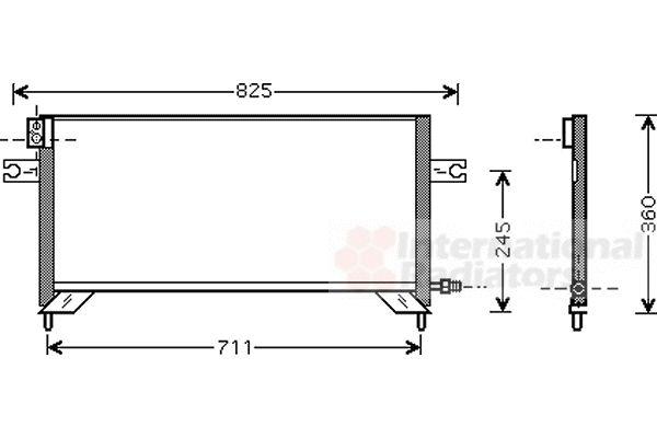 Condenseur, climatisation - VAN WEZEL - 13005204