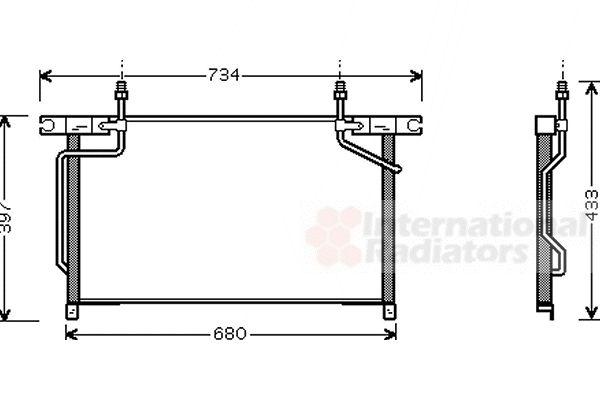 Condenseur, climatisation - VAN WEZEL - 13005213