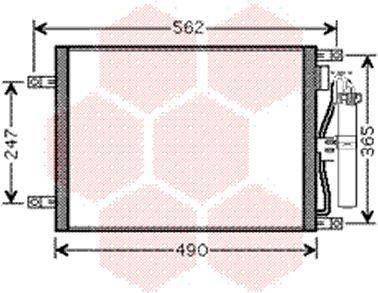 Condenseur, climatisation - VAN WEZEL - 13005252