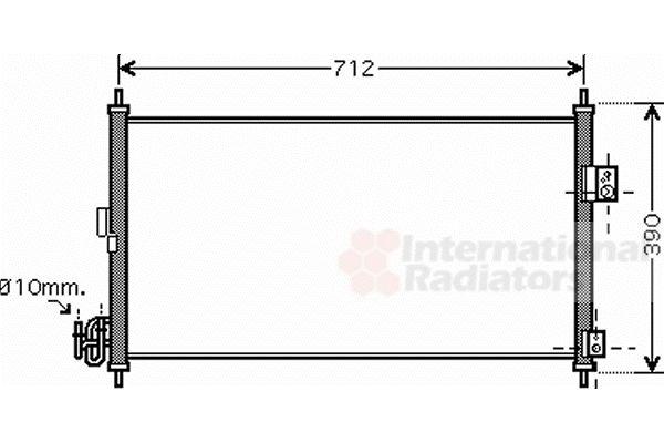 Condenseur, climatisation - VAN WEZEL - 13005263