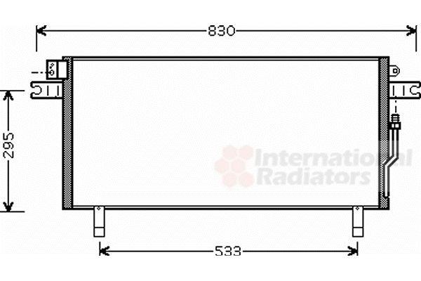 Condenseur, climatisation - VAN WEZEL - 13005268