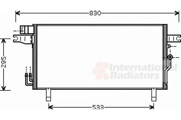 Condenseur, climatisation - VAN WEZEL - 13005269