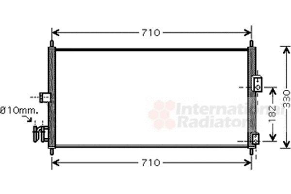 Condenseur, climatisation - VAN WEZEL - 13005270