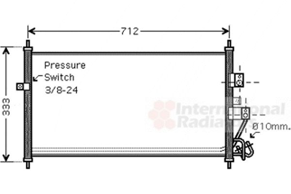 Condenseur, climatisation - VWA - 88VWA13005277