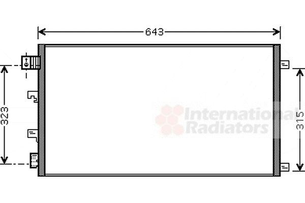 Condenseur, climatisation - VAN WEZEL - 13005281