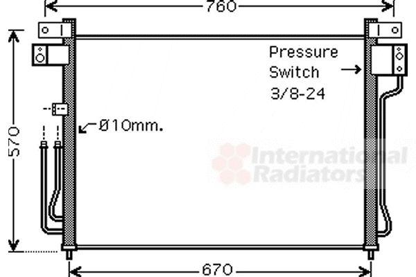 Condenseur, climatisation - VWA - 88VWA13005299