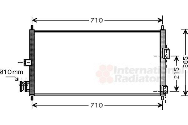Condenseur, climatisation - VAN WEZEL - 13005311