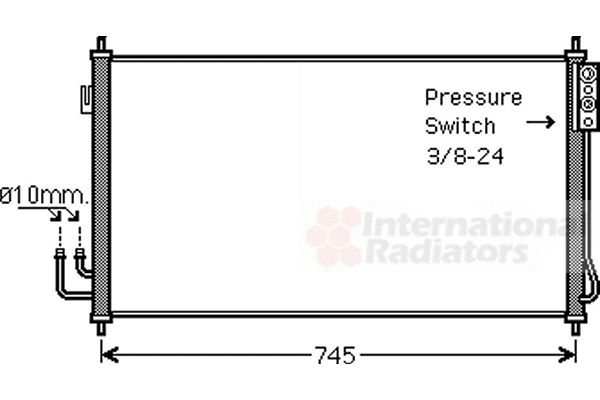 Condenseur, climatisation - VAN WEZEL - 13005325
