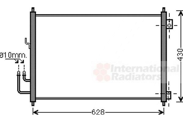 Condenseur, climatisation - VAN WEZEL - 13005328