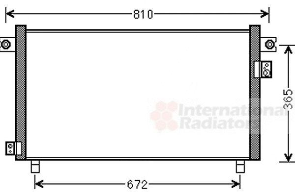 Condenseur, climatisation - VAN WEZEL - 13005330