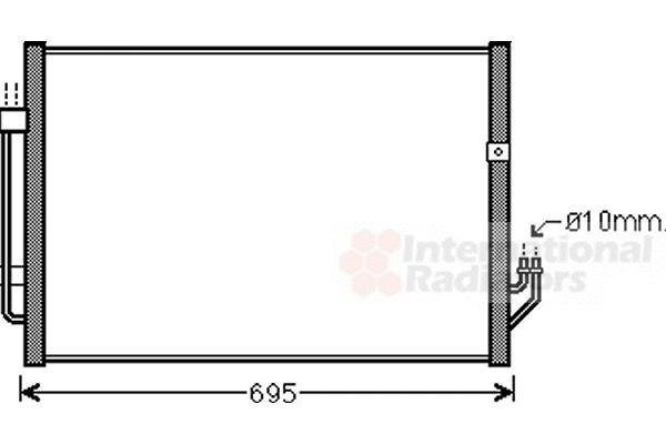 Condenseur, climatisation - VAN WEZEL - 13005331