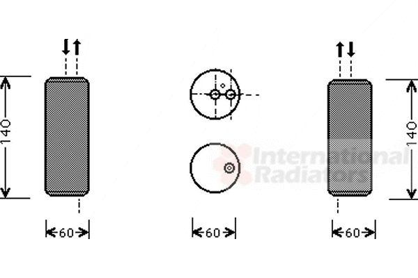 Filtre déshydratant, climatisation - VAN WEZEL - 1300D082