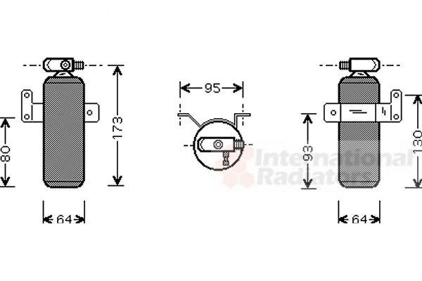 Filtre déshydratant, climatisation - VAN WEZEL - 1300D095