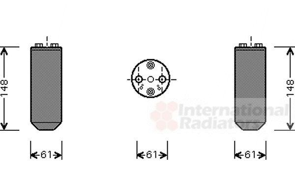 Filtre déshydratant, climatisation - VAN WEZEL - 1300D208