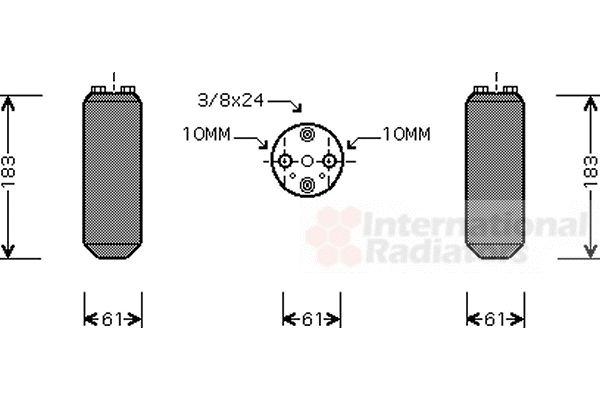 Filtre déshydratant, climatisation - VAN WEZEL - 1300D231