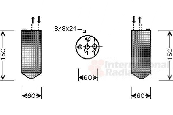 Filtre déshydratant, climatisation - VAN WEZEL - 1300D236