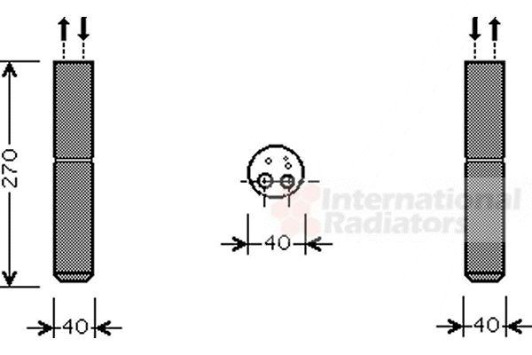 Filtre déshydratant, climatisation - VWA - 88VWA1300D254