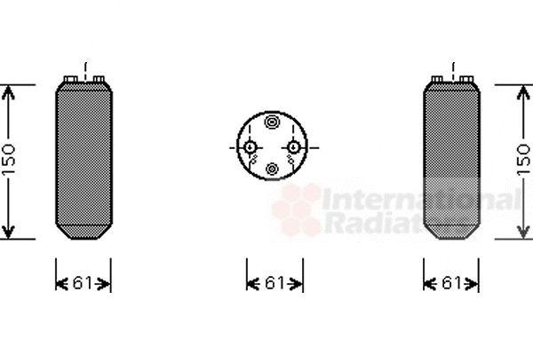 Filtre déshydratant, climatisation - VAN WEZEL - 1300D255