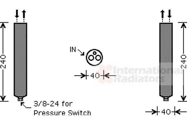 Filtre déshydratant, climatisation - VAN WEZEL - 1300D267