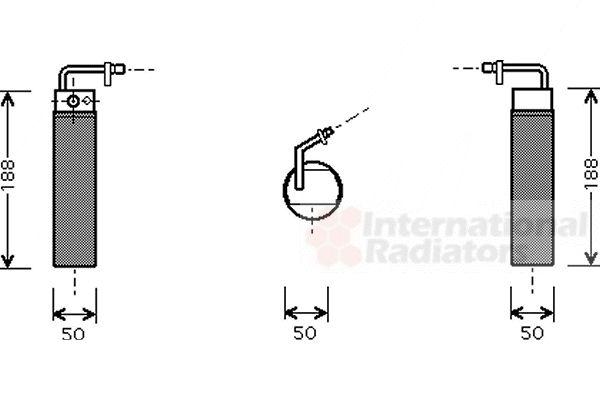 Filtre déshydratant, climatisation - VAN WEZEL - 1300D282