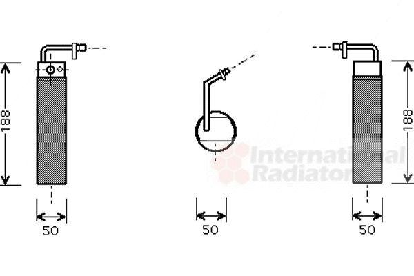 Filtre déshydratant, climatisation - VAN WEZEL - 1300D285
