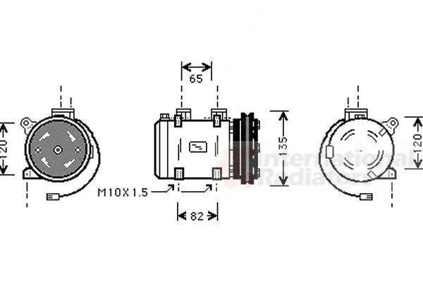 Compresseur, climatisation - VAN WEZEL - 1300K192