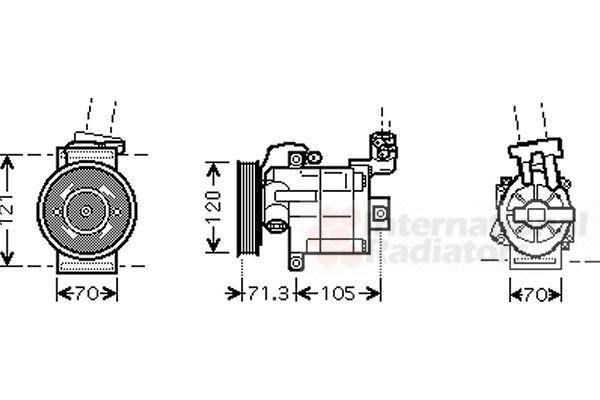 Compresseur, climatisation - VAN WEZEL - 1300K306