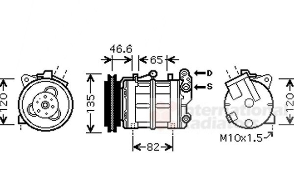 Compresseur, climatisation - VAN WEZEL - 1300K313