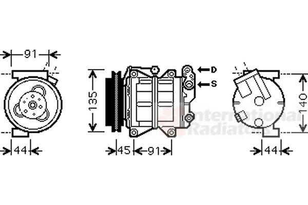 Compresseur, climatisation - VWA - 88VWA1300K314