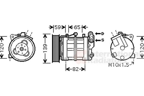 Compresseur, climatisation - VAN WEZEL - 1300K315