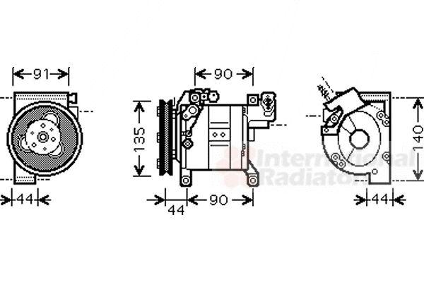 Compresseur, climatisation - VAN WEZEL - 1300K323