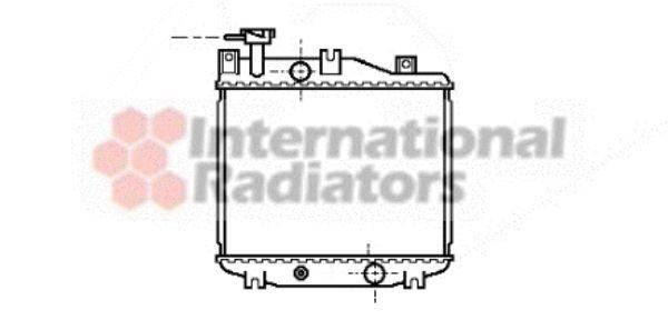 Radiateur, refroidissement du moteur - VAN WEZEL - 11002005